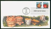 MAYFAIRSTAMPS US FDC 1995 PEACHES AND PEAR FIRST DAY COVER W