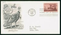 MAYFAIRSTAMPS US FDC 1956 WILD TURKEY FIRST DAY COVER WWP_63