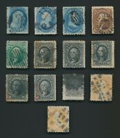 US STAMPS 1857 1867 TO 30C FRANKLIN X2 INC F/VF 76 & 77 & 5X