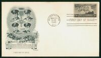 MAYFAIRSTAMPS US FDC UNSEALED 1948 FOUR HEROIC CHAPLAINS ART