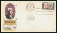 MAYFAIRSTAMPS US FDC UNSEALED 1960 AMERICAN CREDO GEORGE WAS