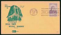 MAYFAIRSTAMPS US FDC SEALED 1956 DEVILS TOWER NATIONAL MONUM