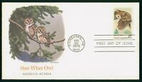 MAYFAIRSTAMPS US FDC UNSEALED 1978 SAW WHET OWL FLEETWOOD FI