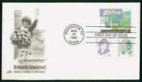 MAYFAIRSTAMPS US FDC UNSEALED 1995 19TH AMENDMENT WOMEN'S SU