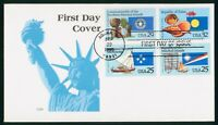 MAYFAIRSTAMPS US FDC UNSEALED 1995 COMBO 4 TERRITORIES SMR F