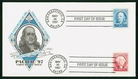 MAYFAIRSTAMPS US FDC UNSEALED 1997 POSTAGE STAMP ANNIVERSARY