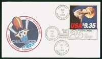 MAYFAIRSTAMPS US SPACE 1983 CHALLENGER SHUTTLE COVER WWP_664