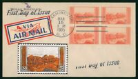 MAYFAIRSTAMPS US FDC 1935 GRAND CANYON BLOCK FIRST DAY COVER WWP_63641