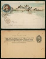 MAYFAIRSTAMPS US STATIONERY 1890S COLUMBIAN EXPO UNUSED POSTAL CARD WWP79211