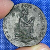 MIDDLESEX  ANTI   SLAVERY CONDER HALFPENNY C1795. AM I NOT A