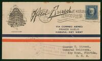 MAYFAIRSTAMPS US FIRST FLIGHT COVER 1927 TO KEY WEST FLORIDA