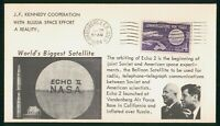 MAYFAIRSTAMPS US SPACE 1964 JFK COOPERATION WITH RUSSIA VAND