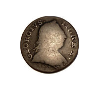 1775 NON REGAL GEORGE III HALFPENNY COLONIAL COIN.