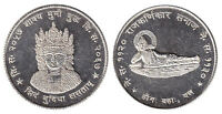 NEPAL TIBET SHAKYA MUNI  CROWNED BUDDHA GOOD LUCK TOKEN COIN UNC