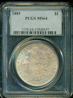 1885-P MORGAN SILVER DOLLAR