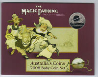 2008 RAM UNCIRCULATED  UNC  6 COIN BABY MINT SET  MAGIC PUDDING SERIES