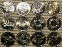 BRILLIANT UNCIRCULATED 2000 CANADA MILLENNIUM 12 QUARTER 25 CENT 25C COIN SET