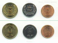 AFGHANISTAN 3 CURRENT COIN SET 1 2 5 AFGHANIS 2004 UNCIRCULATED SHINY UNC