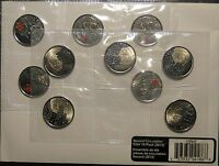 2013 CANADA LAURA SECORD 25 CENT CIRCULATION 10 COIN PACK COLOURED QUARTER 1812