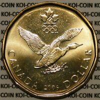 BRILLANT UNCIRCULATED CANADA 2006 LUCKY LOONIE FOR OLYMPIC $1 DOLLAR COIN