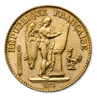 FRANCE GOLD 20 FRANCS LUCKY ANGEL AVG CIRC   SKU 1049