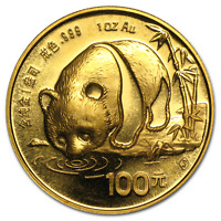 CHINA 1 OZ GOLD PANDA BU  RANDOM YEAR NOT SEALED    SKU 12450