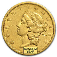 1866 1876 $20 LIBERTY GOLD DOUBLE EAGLE TYPE 2  CLEANED    SKU 61870