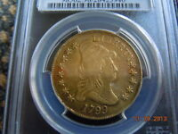 1799  DRAPED BUST 10.00 EAGLE GOLD COIN PCGS GRADED SMALL STARS OBVERSE 214YRS
