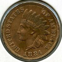 1884 INDIAN HEAD CENT PENNY AA389
