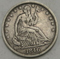 1846 O SEATED LIBERTY HALF DOLLAR UNGRADED