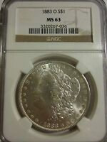 1883 O MORGAN DOLLAR NGC MS63