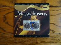 2000 MASSACHUSETTS P & D STATE QUARTER SET UNCIRCULATED COINS COINS OF AMERICA