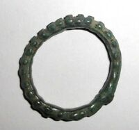 ANCIENT CELTIC BRONZE KNOBBED RING PROTO MONEY 600 400 BC.