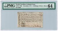 1771 2 SHILLINGS 6 PENCE PROVINCE OF NORTH CAROLINA COLONIAL NOTE