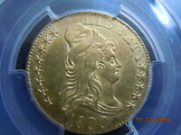 1800 DRAPED BUST 5.00 GOLD HALF EAGLE PCGS GRADED UNC DETAILS! BEAUTIFUL COIN