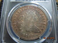 1797 DRAPED BUST SILVER DOLLAR PCGS VF DETAILS,10X6 STARS 7000 MINTED