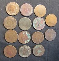 LOT OF 14 INDIAN HEAD CENTS   1883 1888? 1897 1898 3X 1901 2X 1902 2X 1903