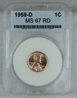 1959 D 1C RD LINCOLN CENT MINT STATE HIGH QUALITY US COIN FROM MINT SET AAA