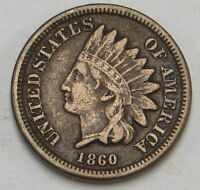 1860 INDIAN HEAD CENT UNGRADED
