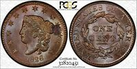 1826 LARGE CENT PCGS UNC DETAILS   ENV DAMG SPOT REMOVED   DEEPLY TONED