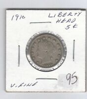 1910 5C LIBERTY V-NICKEL WITH