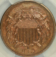 1869 PROOF TWO CENT PCGS PR63RB