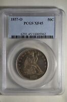 1857 O NEW ORLEANS LIBERTY SEATED SILVER HALF DOLLAR   PCGS XF45   02453