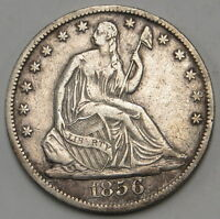 1856 NEW ORLEANS O MINT SEATED LIBERTY HALF DOLLAR UNGRADED