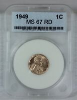 1949 1C RD LINCOLN WHEAT CENT PENNY 1C BU US COIN