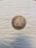 VERY NICE 1873 SEATED LIBERTY QUARTER WITH ARROWS