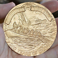 BICENTENNIAL U.S. COAST GUARD  BRONZE MEDAL HUGE 3