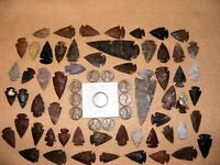 INDIAN HEAD  & 10 WHEAT CENTS W/ 50 ARROWHEADS/SPEARHEADS TEXAS ESTATE 6 1600