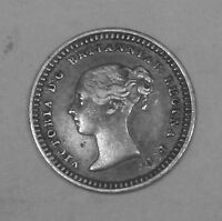 GREAT BRITAIN   1 1/2 SILVER PENNY 1843