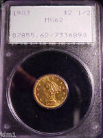 1903 $2.50 LIBERTY GOLD RATTLER PCGS MS62 VERY NICE COIN